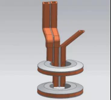 图11 内孔淬火感应器模型