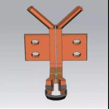 图12 外圆淬火感应器模型