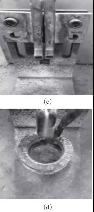 图13 外法兰感应器焊装过程