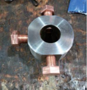 铜螺栓堵塞螺纹孔